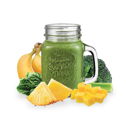 Green Machine frozen IQF smoothies from Smoothie Solutions and Life Smoothies International.